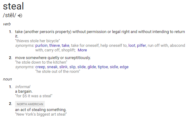 steal definition