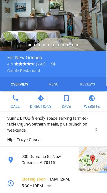 Google Image of Eat New Orleans Restaurant