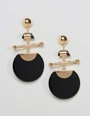 Asos Disc and Bar Earrings