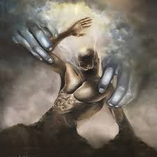 God forming Man